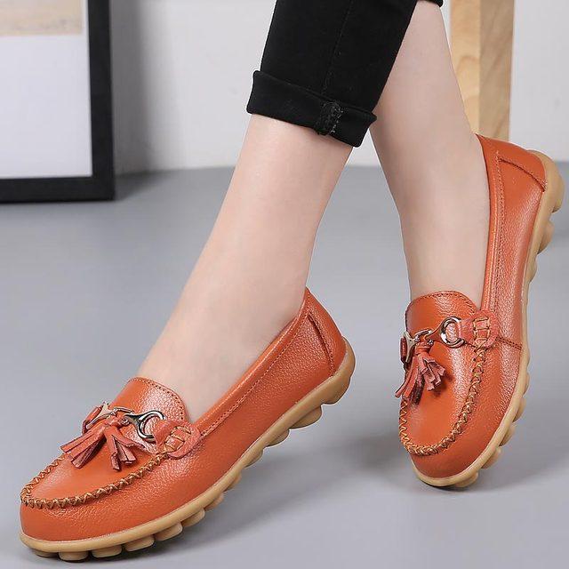 c6d2860b7018 Płaskie buty kobieta tassel fringe jednolity kolor mokasyny damskie buty  okrągłe toe 2018 nowe mody płaskie