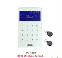 Wireless Tempered Glass Touch Screen RFID Tags keypad Built In Battery Powered