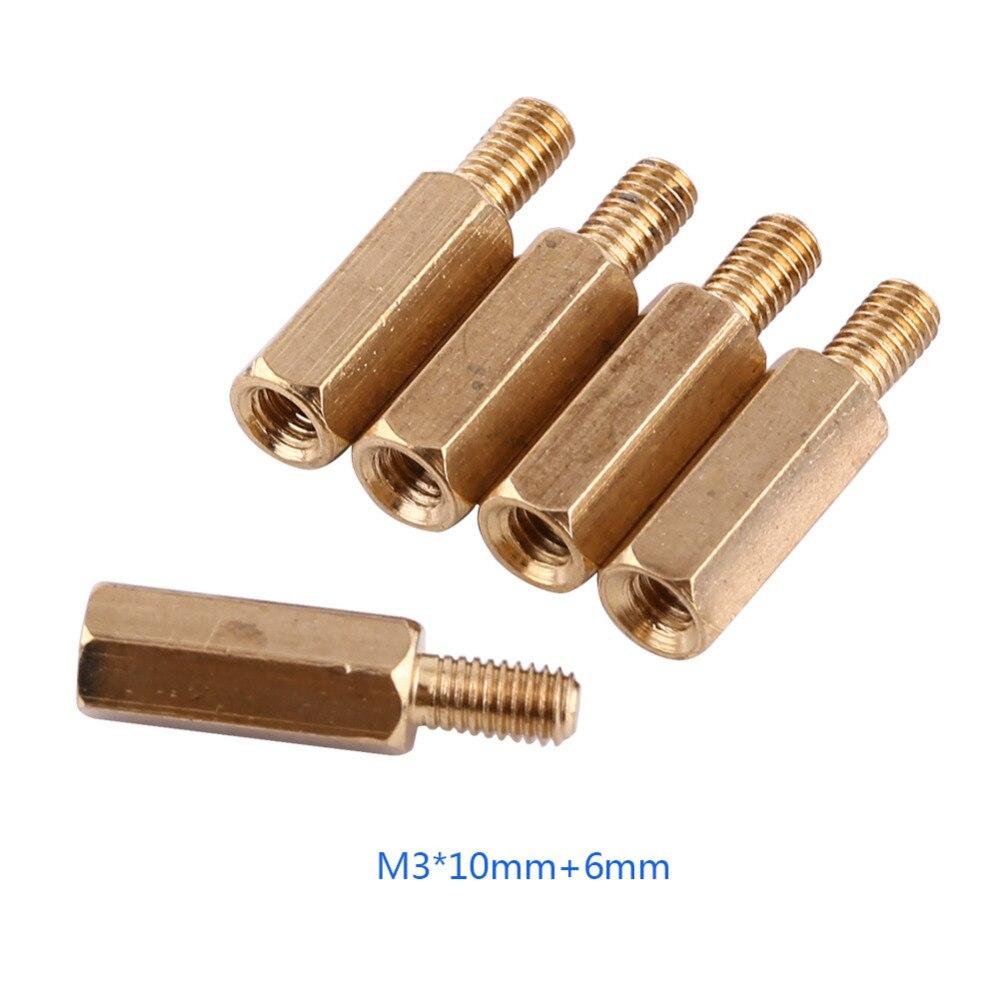 Wholesale 100pcs Lot Brass M3 Hex Column Male Female Threaded 120pcs Copper Silver Pillars Standoff Circuit Board Pcb Nut Aeproductgetsubject