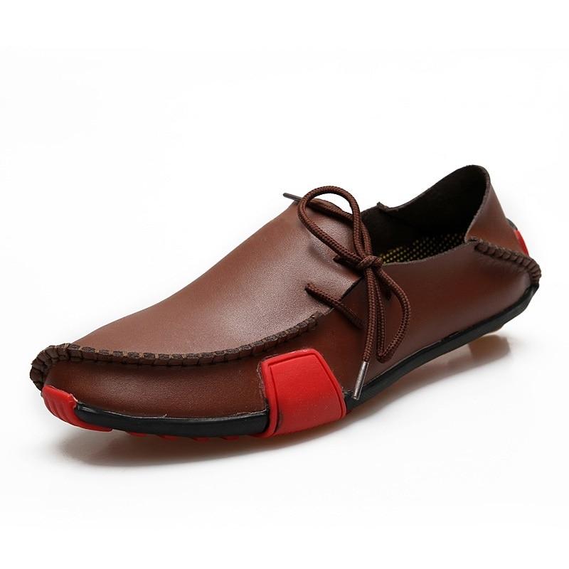 GOGORUNS ultra lichte heren loopschoenen echt leer ademend hardloopschoenen heren sportschoenen zapatos 23h9