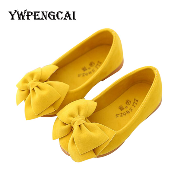 All Sizes 21-36 Baby Toddler Girl Soft Bowknot Flat Shoes Spring Summer Girls Princess Shoes Slip On Solid Shoes For Girl