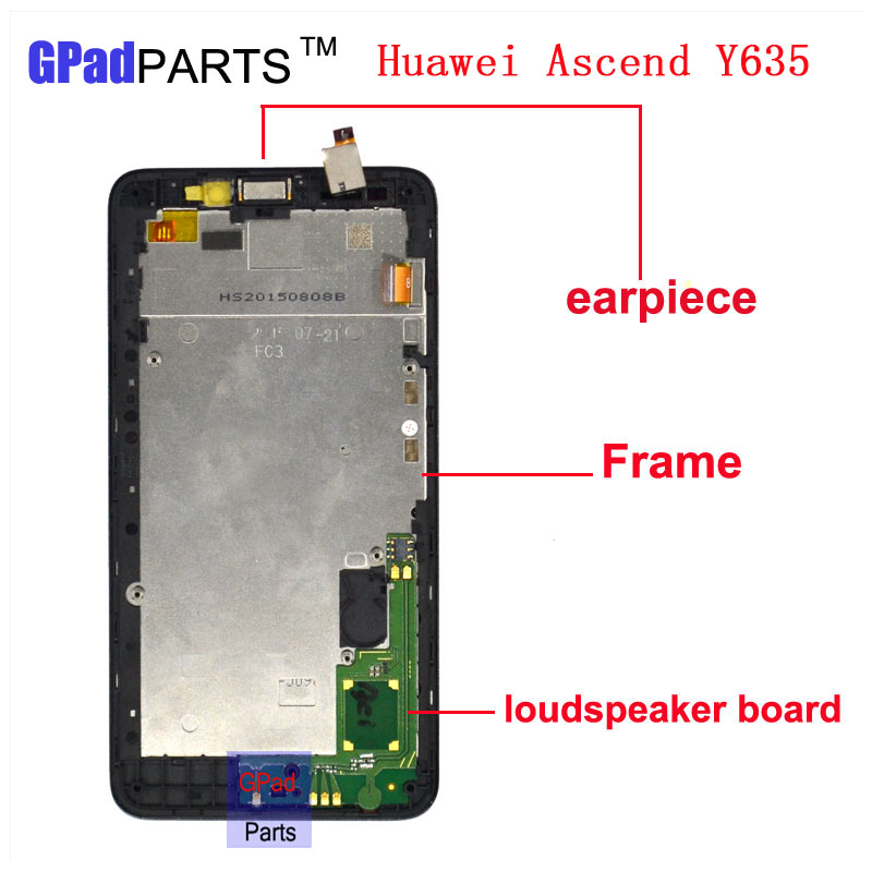 Free DHL Replacement Y635 lcd For HuaWei Y635 Lcd Screen Display + Touch Screen Digitizer Assembly with Frame high quality replacement lcd for huawei p9 plus display screen with touch screen digitizer with frame assembly wholesale 10pcs lot free dhl