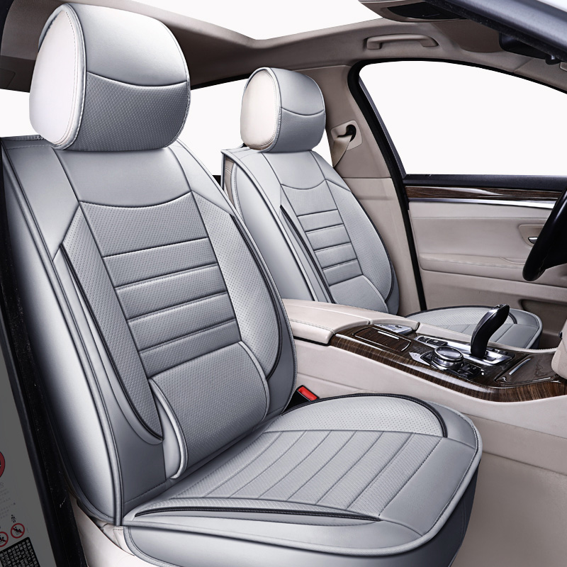 Leather universal Car seat <font><b>covers</b></font> <font><b>For</b></font> <font><b>audi</b></font> 80 <font><b>100</b></font> <font><b>c4</b></font> a7 a8 q2 q3 q5 q7 s3 s4 s5 s6 s7 s8 sq5 sq7 of 2018 2017 2016 2015 image