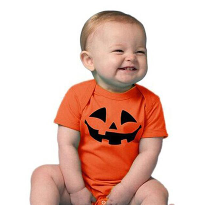 new bodysuit halloween baby boygirl clothes pumpkin print baby body long sleeve christmas party newborn baby clothes in bodysuits from mother kids on