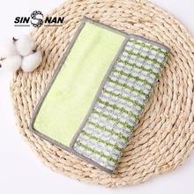 SINSNAN Մանրէազերծող բամբուկե մանրաթելային խոհանոցային սրբիչով բազմաֆունկցիոնալ մաքրող գորգեր