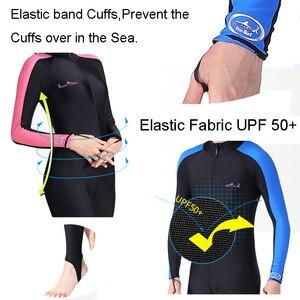 Image 5 - מפרש צלילה UPF 50 + לייקרה צלילה חליפת צלילה הצלילה שנורקל צלילה חליפת גברים נשים פריחה משמר UV שמש להגן ארוך שרוול בגדי ים