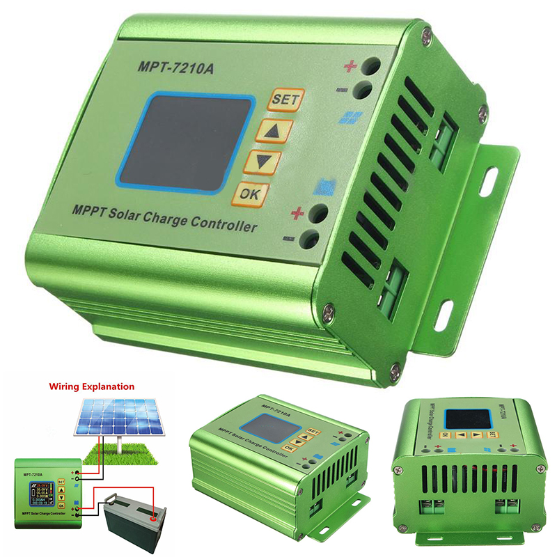 MPPT Solar Panel Battery Regulator Charge Controller with LCD Display 24/36/48/60/72V 10A Solar Controllers Mayitr mppt 10a solar charge controller epever10a mppt solar controller 150v pv battery panel regulator 12v 24vdc aotu solar charger