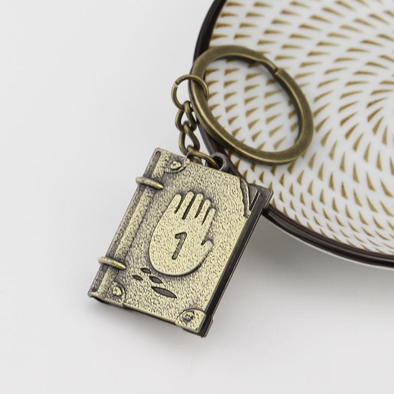 Gravity Falls Bill Cipher Logo Metal Pendant Keychain Cosplay Keyrings Ornament