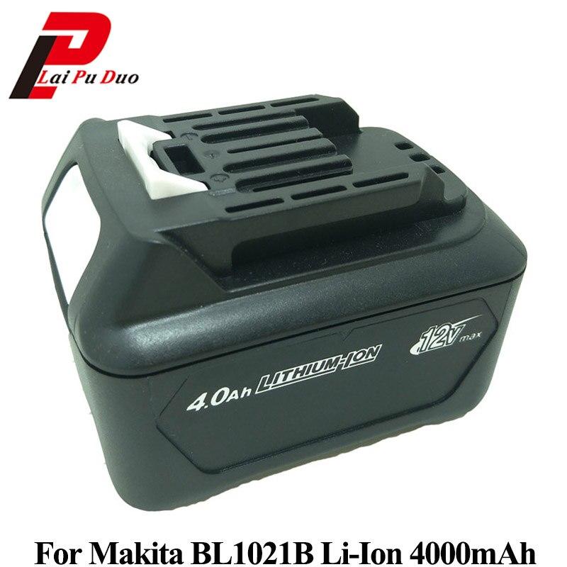10.8 V 12 V 4000 mAh Batterie pour MAKITA Remplacement pour Outils Électriques Li-ion BL1021B BL1041 DF331 BL1041B BL1015 CT226 SH02R1 DT03R1