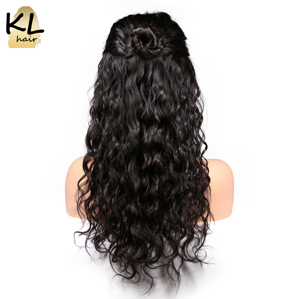 Natural Wave Full Lace Human Hair Wigs With Baby Hair Pre Plucked Natural Black Brazilian Remy