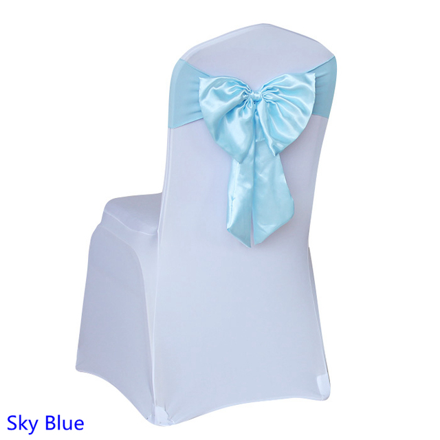 Sky blue colour wedding butterfly bow tie lycra satin sash self tie chair sash ready made  sc 1 st  AliExpress.com : turquoise blue chair sashes - Cheerinfomania.Com