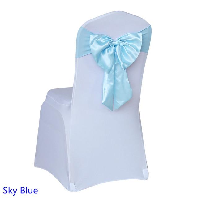 Sky blue colour wedding butterfly bow tie lycra satin sash self tie chair sash ready made  sc 1 st  AliExpress.com & Sky blue colour wedding butterfly bow tie lycra satin sash self tie ...