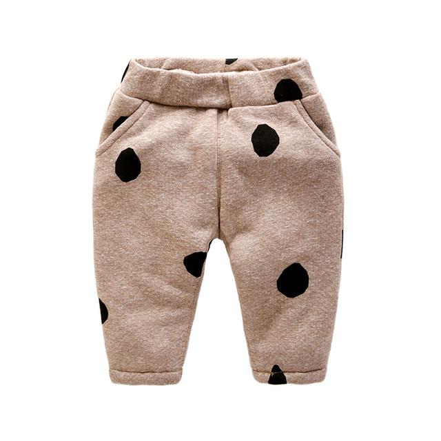 Pantalones de terciopelo pantalones del bebé 0-3 meses recién nacido engrosada algodón forrado pantalones del bebé en invierno