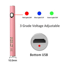 50pcs/lot 280mAh Bottom Charge Battery Adjustable voltage E cig ego evod Electronic Cigarette Thick Oil Pen Cartridge