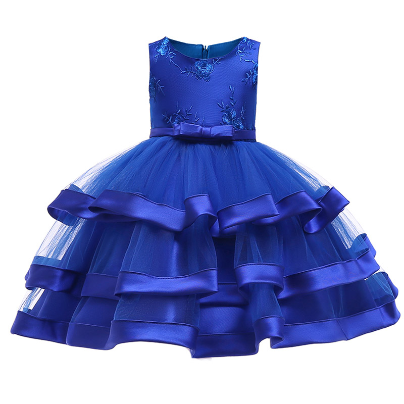 Multi-layer cake   dress   wedding clothes   girl     dress   first communion   dresses     girls   ball gown children clothing baby tutu costume
