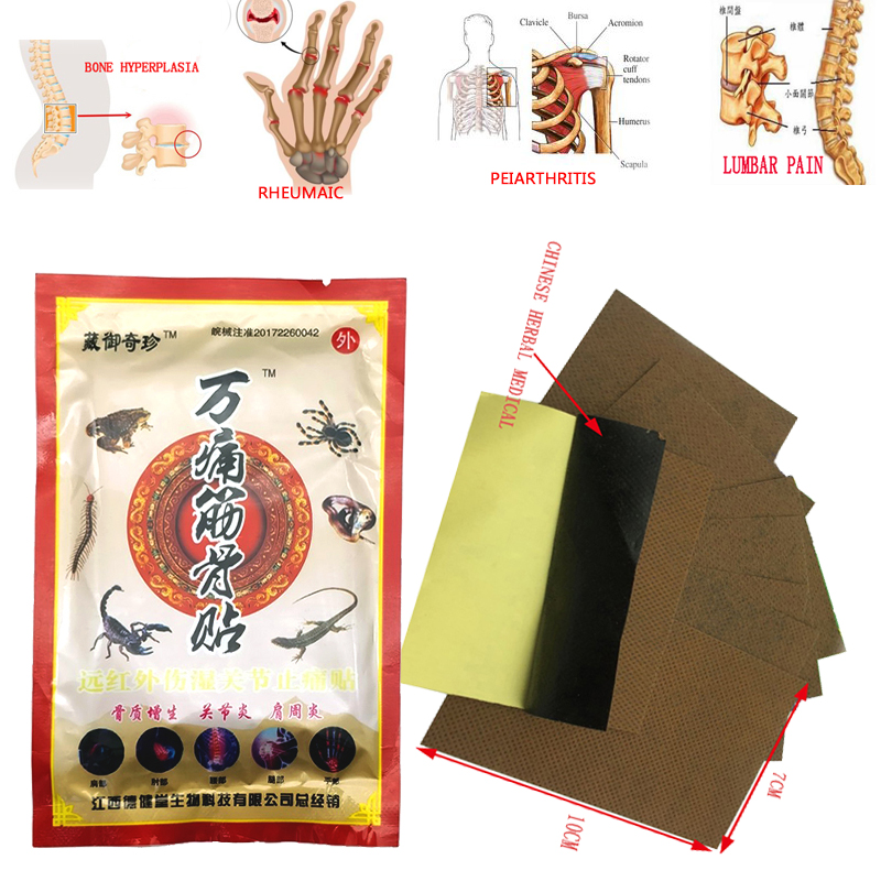 224Pcs/28Bags ZB Chinese Pain Patch Tens Relief Body Neck massage Medicated Plasters Pain Ointment For Joints