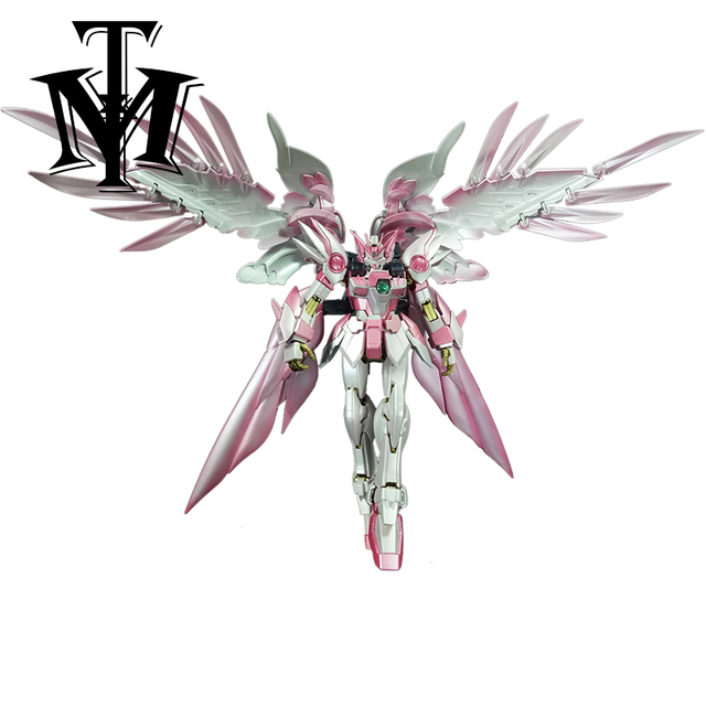 Anime Japan Mobile Suit MG 1/100 pink Wing Gundam Zero Endless Waltz Fighter Assembled Robot Orignal Box Action Figure kids toy 3
