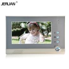 JERUAN 7 inch video door phone doorbell intercom 709 indoor intercom free shipping