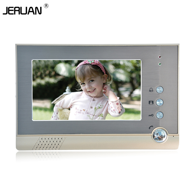 JERUAN 7 inch video door phone doorbell intercom 709  indoor intercom free shipping