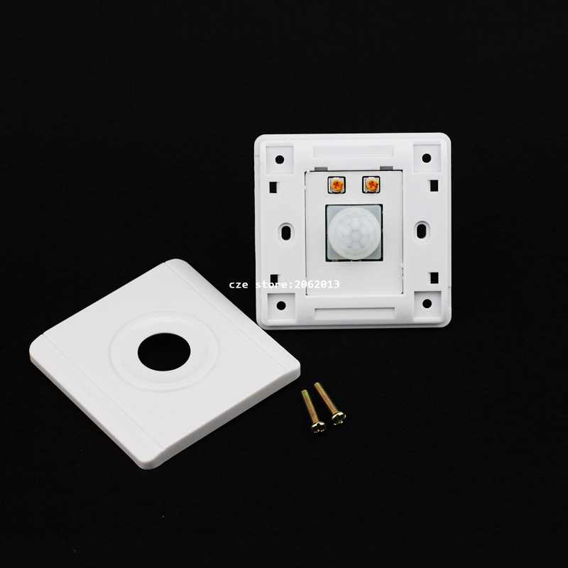 IR Switch Infrared LED Body IN and Out Motion Sensor Switches Light Adjustable  Light Control  for Stairs Garage Wall Mounting стоимость