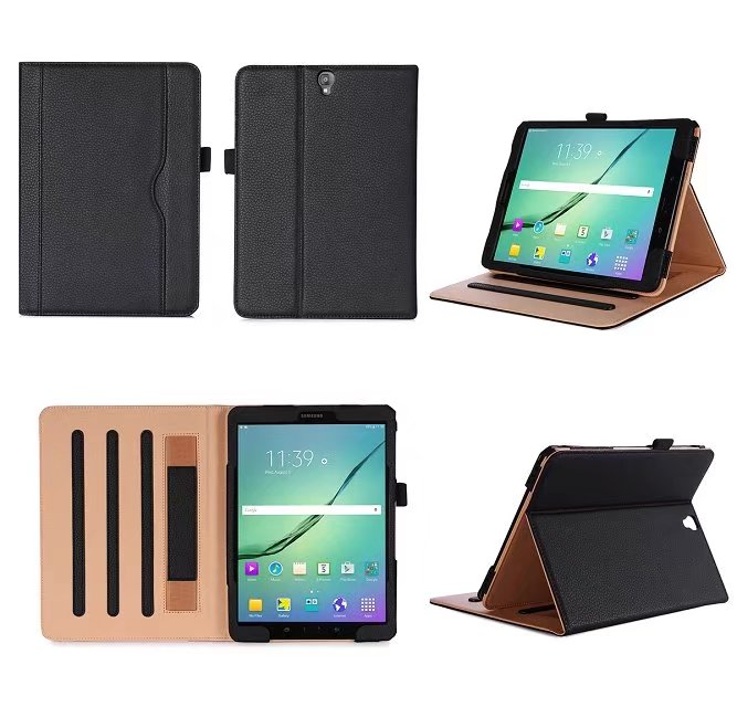 New Fashion PU Leather Stand Smart Case For Samsung Galaxy Tab S3 9.7 Tablet Cover For Samsung SM-T820 T825 T829 with hand strap new fashion tab s3 9 7 tablet case pu leather flip cover for samsung galaxy tab s3 9 7 inch t820 t825 cute stand cover 6 colors