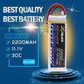 1 unids 2200 mah 11.1 v 3 s batería de litio li-po batería xt60 30c-35c t enchufable para rc helicóptero drone qudcopter coche camión cheerson cx-20