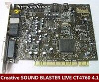 Оригинальный разбирать для Creative SOUND BLASTER LIVE CT4760 4,1 звуковая карта работает хорошо