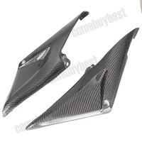 2PCS Carbon Fiber Tank Side Cover Panels Fairing for Honda CBR600RR 2005 2006 05 06 Motorcycle Parts Black