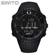 Gimto choque reloj de buceo reloj digital led deportivo reloj de los hombres a prueba de agua moda masculina niño relojes reloj militar del relogio montre reloj
