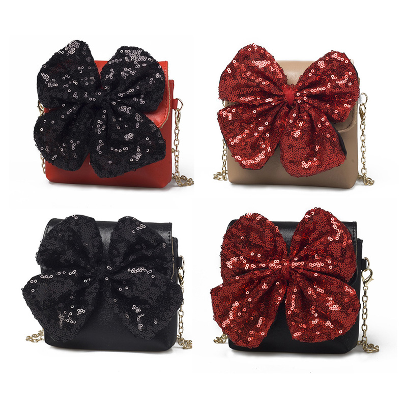 Multicolor New Lovely Baby Girls Mini Messenger Bag Cute Sequins Kids Baby Small  Children Handbags Bags