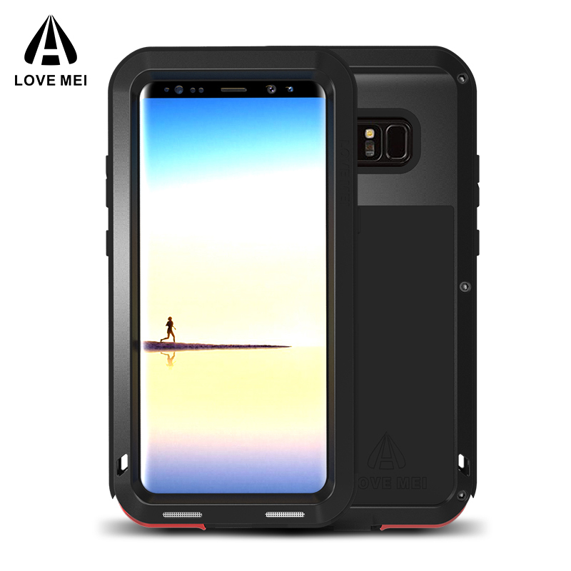 AMOUR MEI En Métal En Aluminium Cas Pour Samsung Galaxy Note 8 Couverture puissant Armure Antichoc Cas de Téléphone Pour Samsung Note 8 Note8 Coque