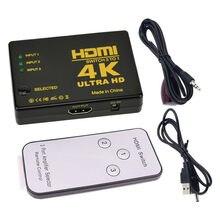 4K/2K/1080P Hdmi-Compatibel Splitter 3 Ingang 1 Uitgang Hub Hdmi Video switch Switcher Voor Display Dvd Hdtv Voor Xbox PS3 PS4