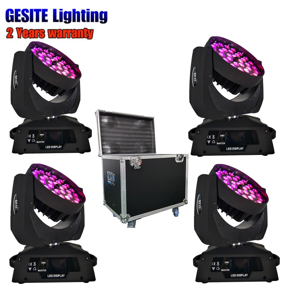 flight case LED 36x15W 5in1 RGBWA with zoom beam wash moving head led wash stage light