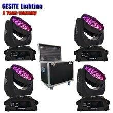 Кейс светодиодный 36×15 Вт 5in1 RGBWA с зумом луч Мыть Перемещение Головы светодиодный мыть свет этапа