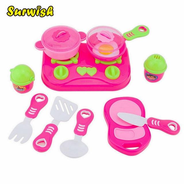 Surwish 11 unids Rosa niños casa Juguetes de cocina para Niñas ...