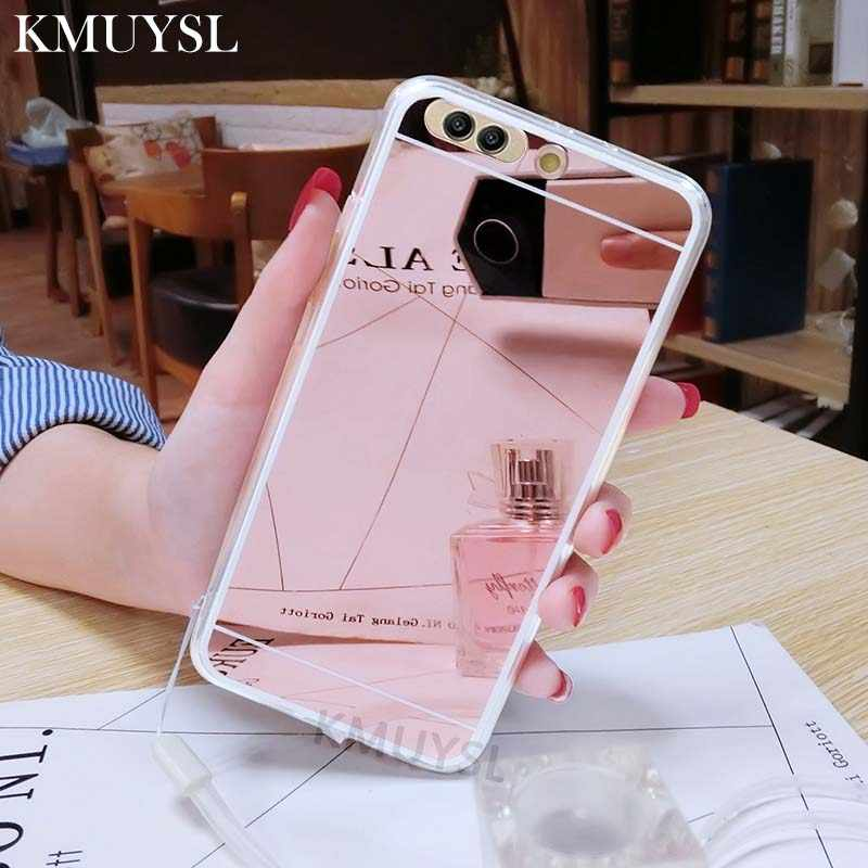 Luxury Mirror Case For Huawei P Smart P8 P9 P10 P20 Lite Honor 7A 7C Pro 8 9 10 Mate 20 Lite Nova 3 3i Y5 Y6 Y9 Back Cover Coque