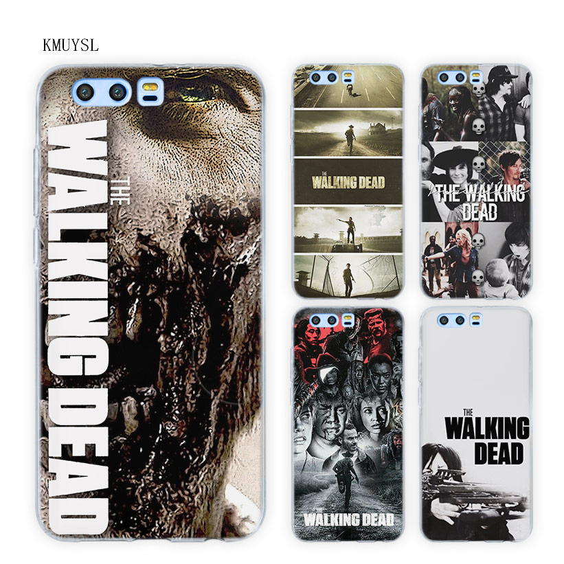 KMUYSL The Walking Dead TPU Transparent Soft Case Cover for Huawei Honor 9 8 Lite 7X 6A  ...