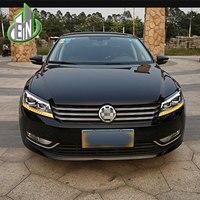 Автомобиль Стайлинг для VW Passat B7 Фары для автомобиля 2011 2012 2015 Америка Passat CC светодиодные фары DRL bi xenon объектив высокая ближнего света