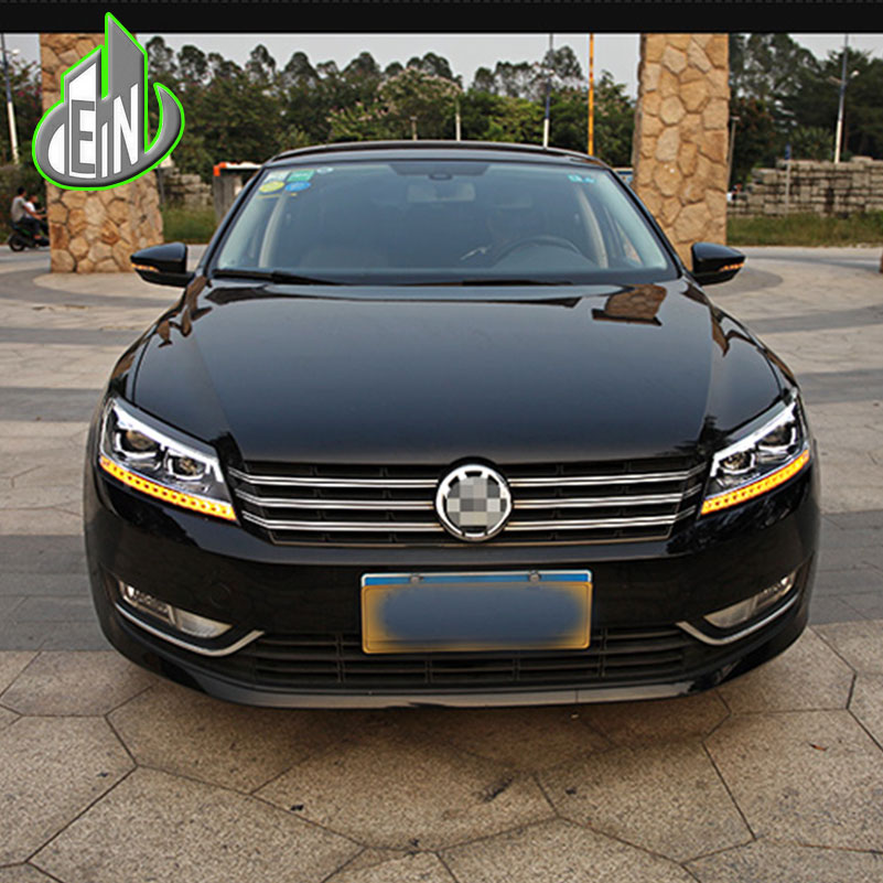 car styling for vw passat b7 headlights 2011 2012 2015 america passat cc led headlight drl bi. Black Bedroom Furniture Sets. Home Design Ideas
