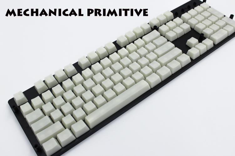 MP 104 Keys Beige  Keycap Transparent ABS Blank Keycaps Keycaps For OEM Cherry MX Switches Mechanical Gaming Keyboard