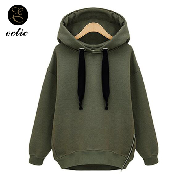 c36218d9 Sweatshirt Green Bts Side Zipper Hoodie Blackpink Kpop Winter Oversized  Hoodie Streetwear Women Long Sleeve Solid Color Hoodies