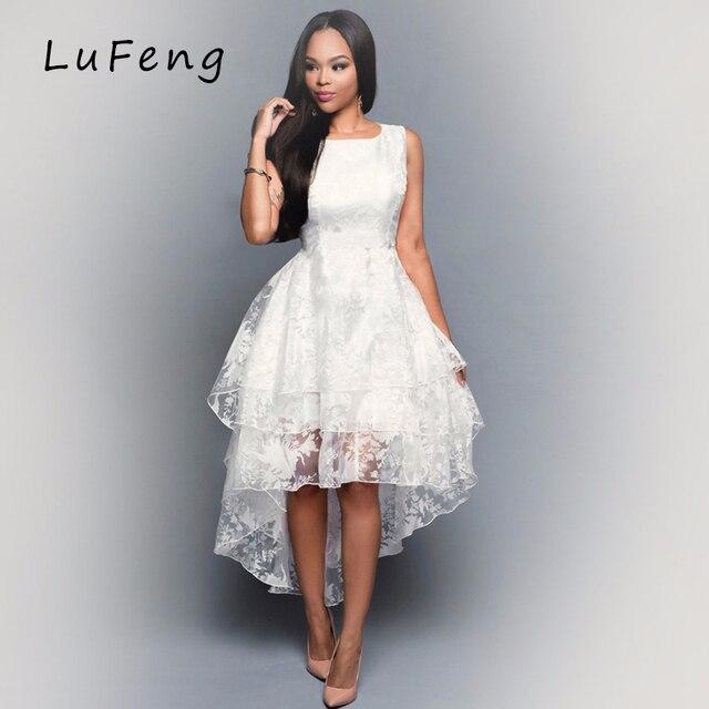 Weißes Kleid Frauen Sleeveless Elegantes Party Kleider Vestidos ...