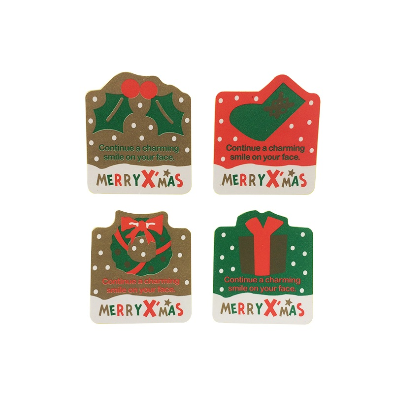 80 Pcs/lot MERRYXMAS Christmas Theme Children Sealing Stickers DIY Gifts Baking Decoration Packaging Scrapbooking