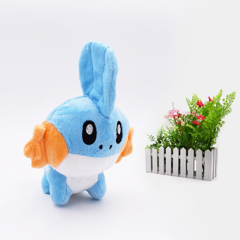 18 Cm Anime Mudkip Peluche Stuffed Plush Cartoon Dolls Hot Christmas Gift Baby Toys For Children
