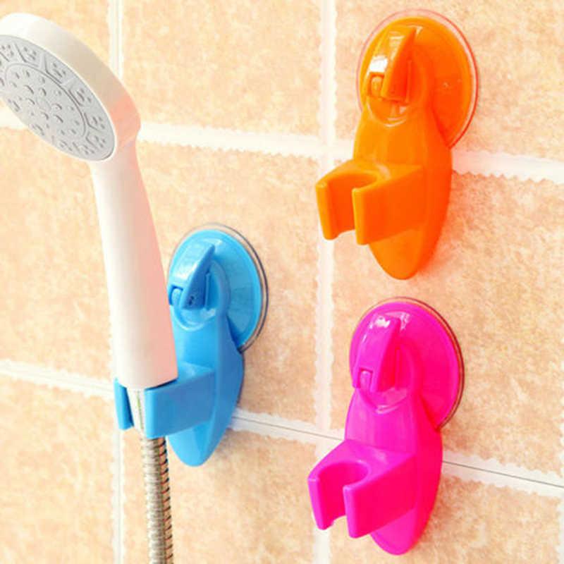 Berguna Super Pengisap Pancuran Semprotan Kepala Penyangga Braket Penahan Faucet Dinding Dudukan Dapat Disesuaikan Sucker untuk Kamar Mandi Lucu Permen Warna