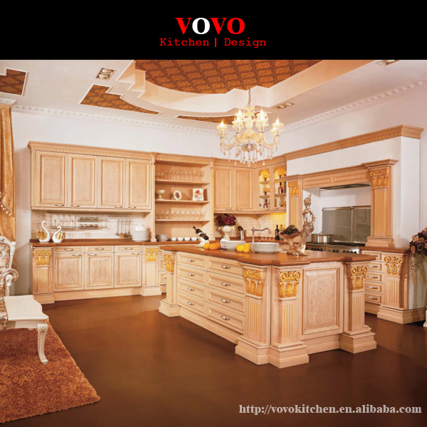 China Lacquer Solid Wood Kitchen Cabinet-in Kitchen