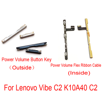 New For Lenovo Vibe C2 K10a40 Power Volume Up Down Button Side Key Switch Flex Cable Ribbon Replacement