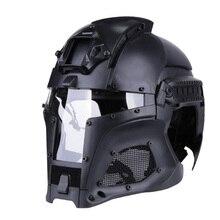 БЫСТРО Шлем вариант галактозы-Tac Стиль Современная солдат тактический воздушный шлем W/маска и Плащаница (TBH051194)