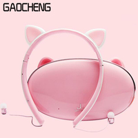 Hair Band Bluetooth Wireless Cat Ear Headphones Gaming Headset Earphone With LED Light For PC Laptop