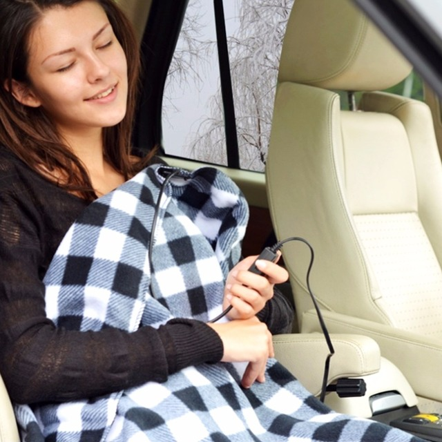 145 100cm Lattice Energy Saving Warm 12v Car Heating Blanket Autumn And Winter Electric Styling Heated Accessories